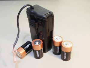 The Model 1.50 Holder for 4 D-Cell Batteries.